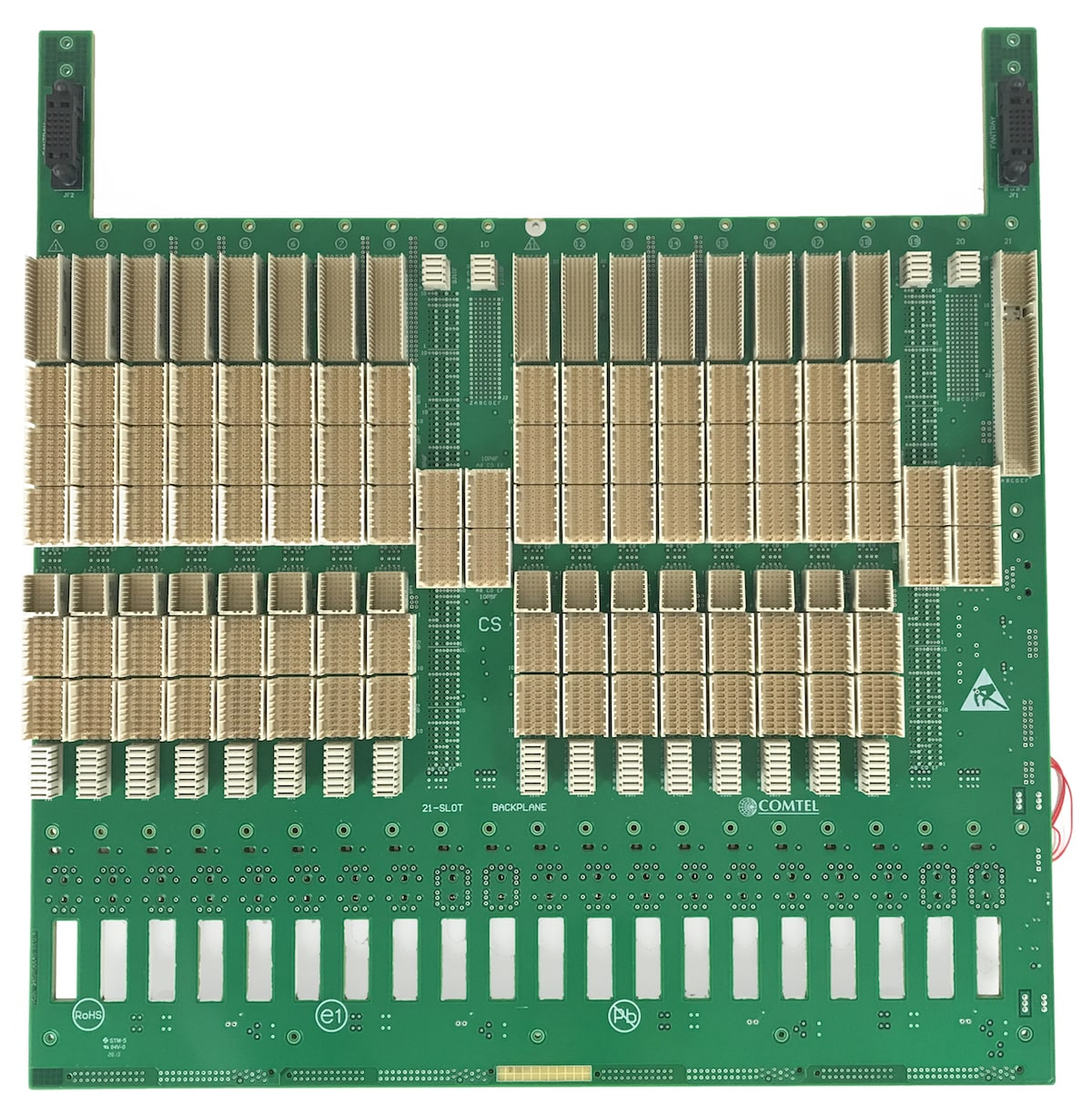 Comtel Backplane CompactPCI Serial 21 Slot Custom Front